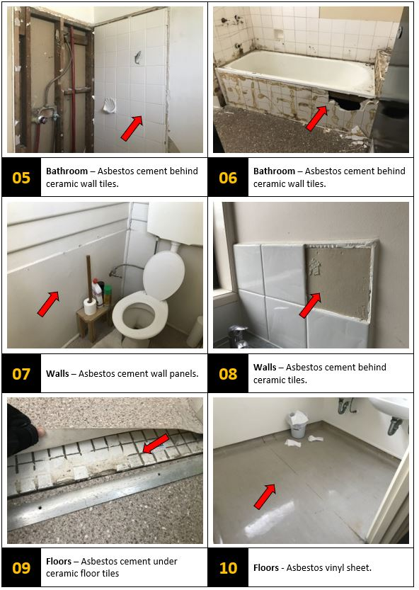asbestos bathroom