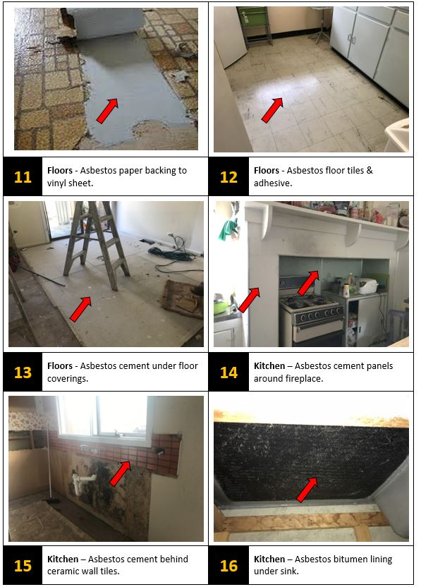 asbestos floor